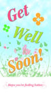 Get Well Photo Card with Flowers